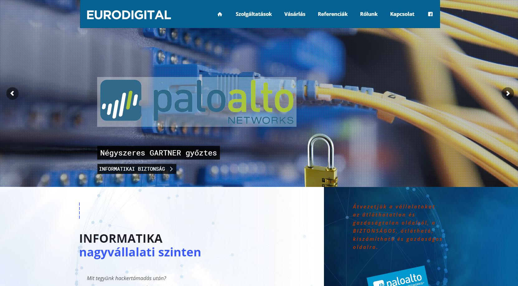 Eurodigital – INFORMATIKA – BIZTONSÁG – Nagyvállalati szinten. Palo Alto tűzfalak infrastruktúra megoldások vállalatok részére. (2)
